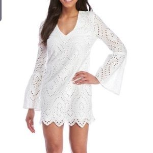 WAYF white dress with bell sleeves size medium